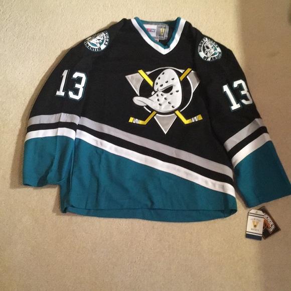 super popular d4436 40018 Teemu Selanne Anaheim mighty ducks vintage jersey NWT